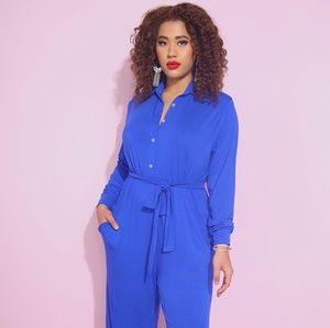 Pants - Royal blue jumpsuit